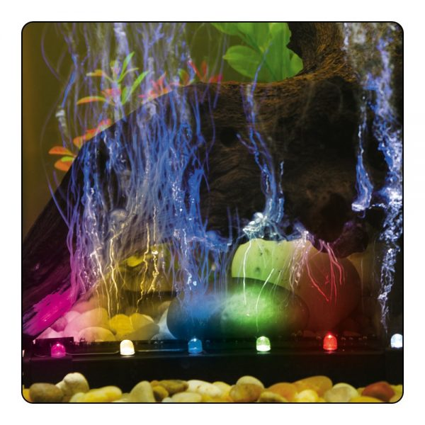 ViaAqua- 12inch 2.7 watt Fast Color Changing LED Light & Airstone