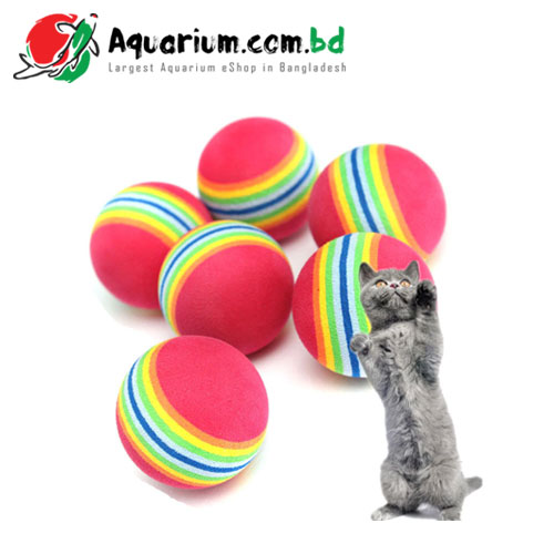 Rainbow Toy Ball for Cat