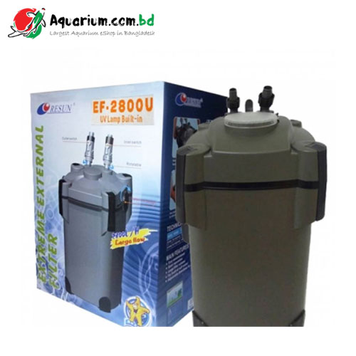 Resun Xtreme Aquarium External Filter EF2800U (with UV Lamp)