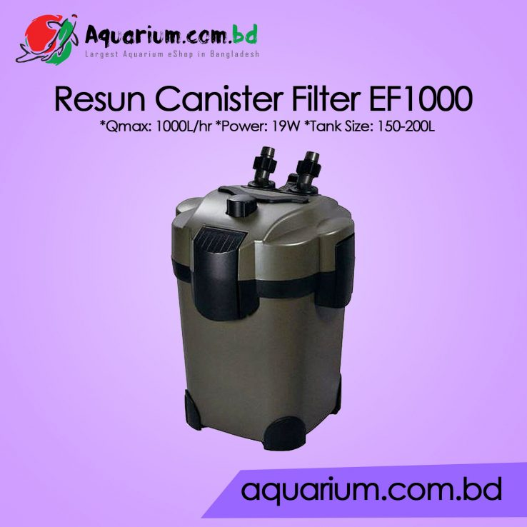 Resun Xtreme Aquarium External Canister Filter EF1000 - All Filter Media Included
