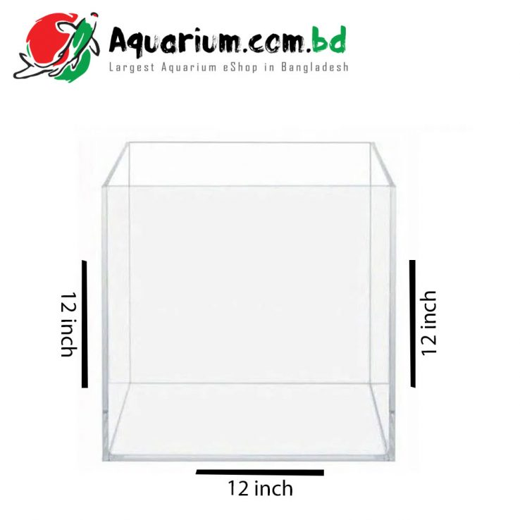 12″x12″x12″ Crystal Glass Aquarium made of Crystal Glass