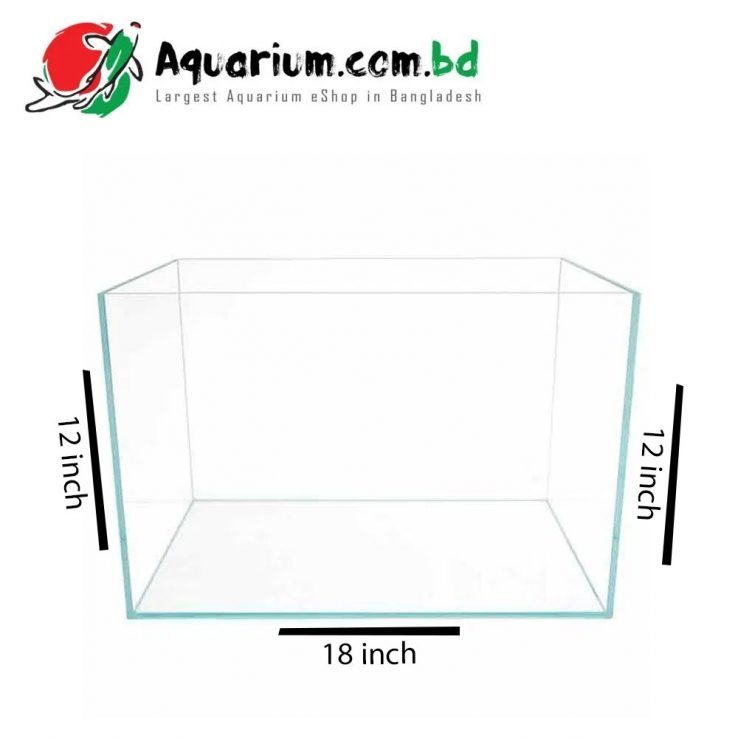 "42 Ltr. 18""x12""x12"" Crystal Glass Aquarium"