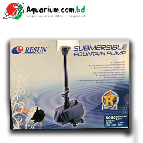 Resun Submersible Fountain Pump(KING5F- 130W, 6000L/H)
