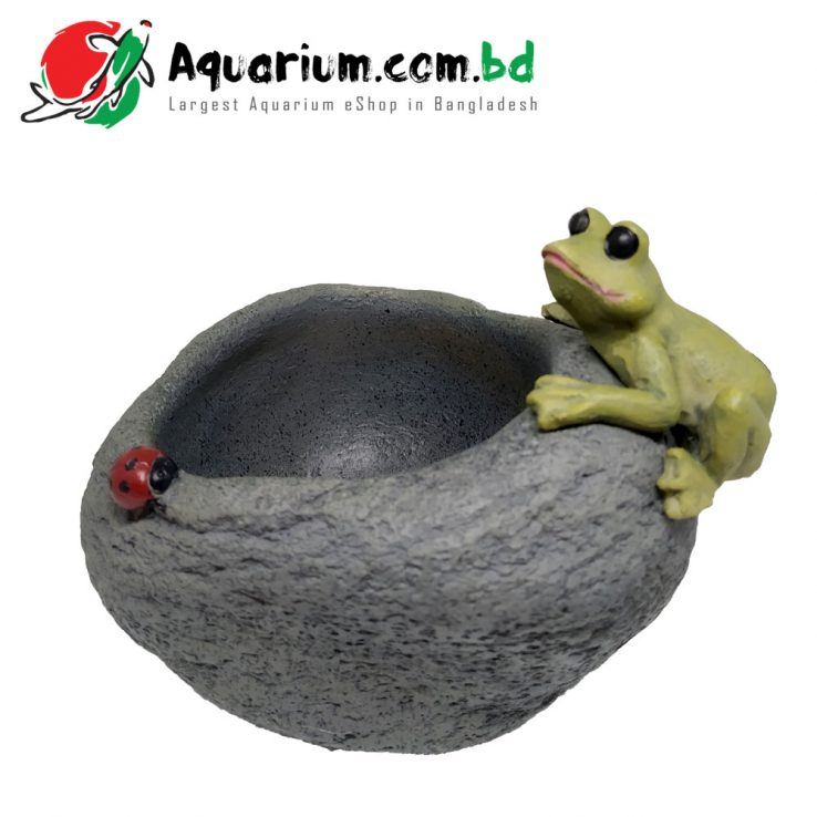 Frog- Plant Pot for Aquarium