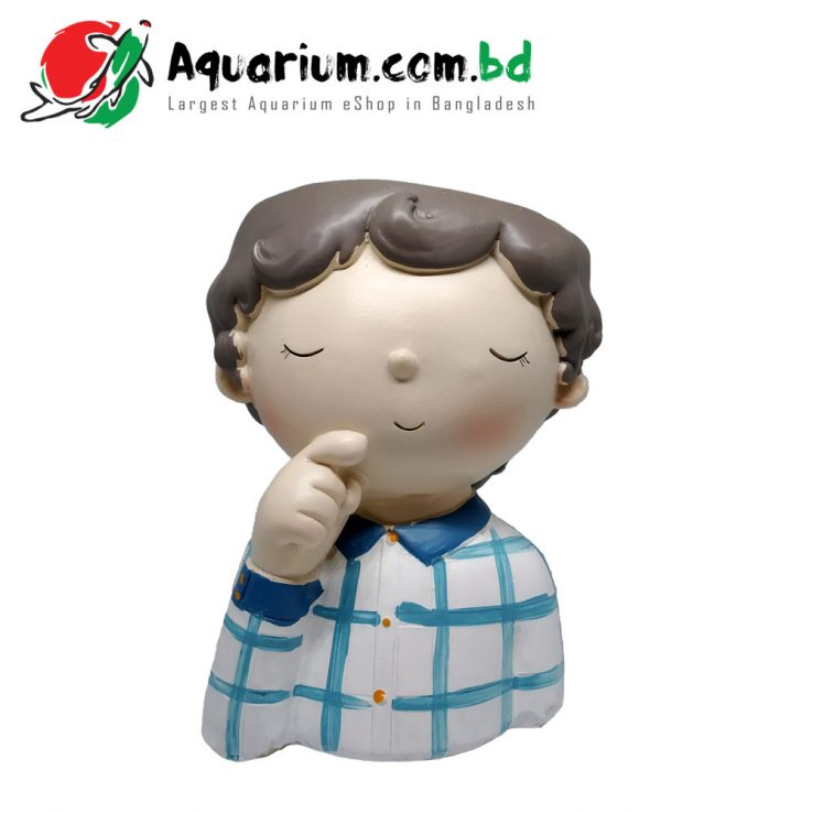 Boy Doll Plant Pot for Aquarium