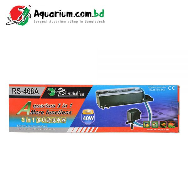 RS Electrical Top Filter, RS- 468A Aquarium 3 in 1 More Functions