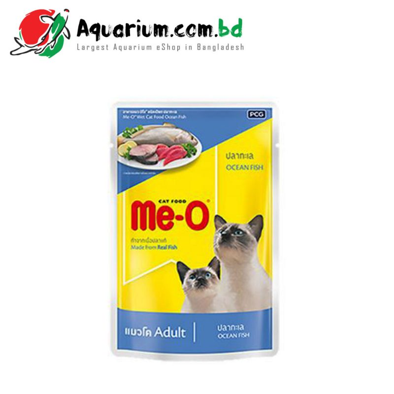 Me-O Adult Cat Food- Ocean Fish 80G Pouch