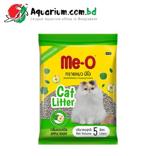 Me-O Clumping Formula Cat Litter(Apple Scent- 5 Liters)