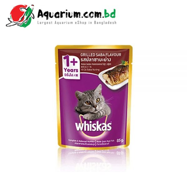 Whiskas® Pouch Adult 1+ Grilled Saba Flavour Cat Food 85g