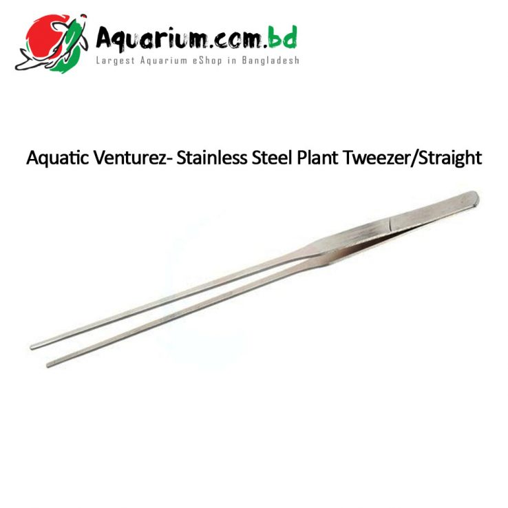 Aquatic Venturez- Stainless Steel Plant Tweezer/Straight