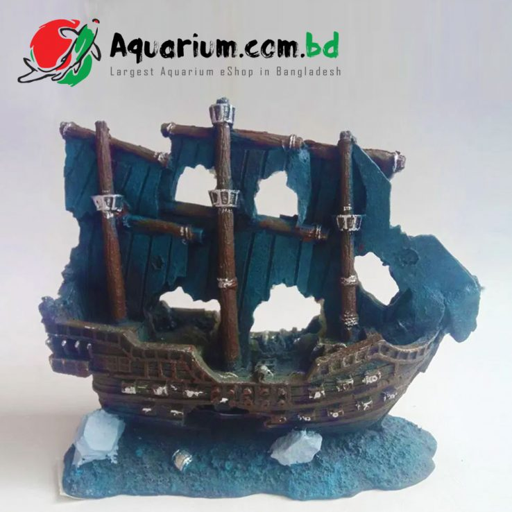 Artificial Boat- Aquarium Decor
