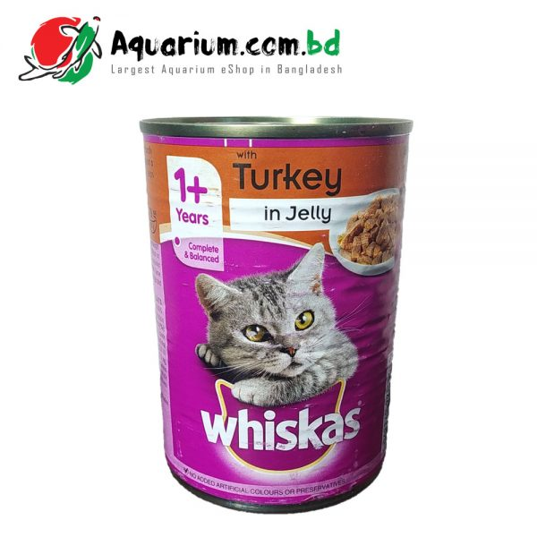 WHISKAS 1+ Years Can with Turkey in Jelly(390g)