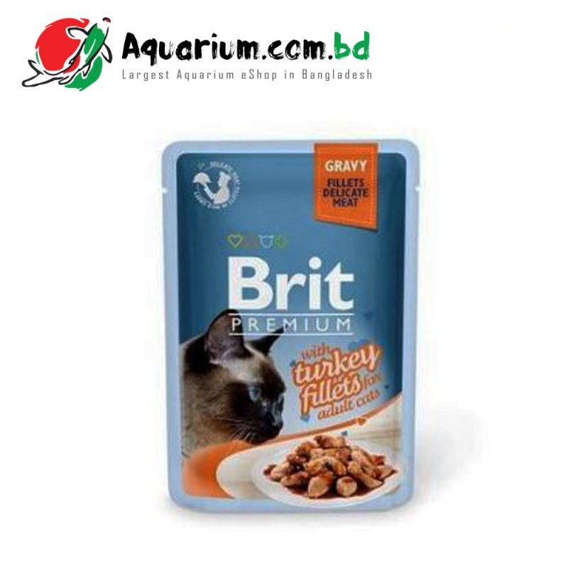 Brit Premium Cat Pouch with Turkey Fillets in Gravy for Adult Cats(85g)