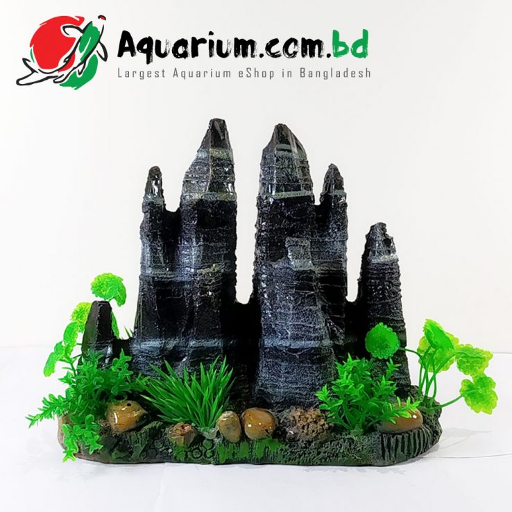 Mountain with Green Grass- Aqua Decor