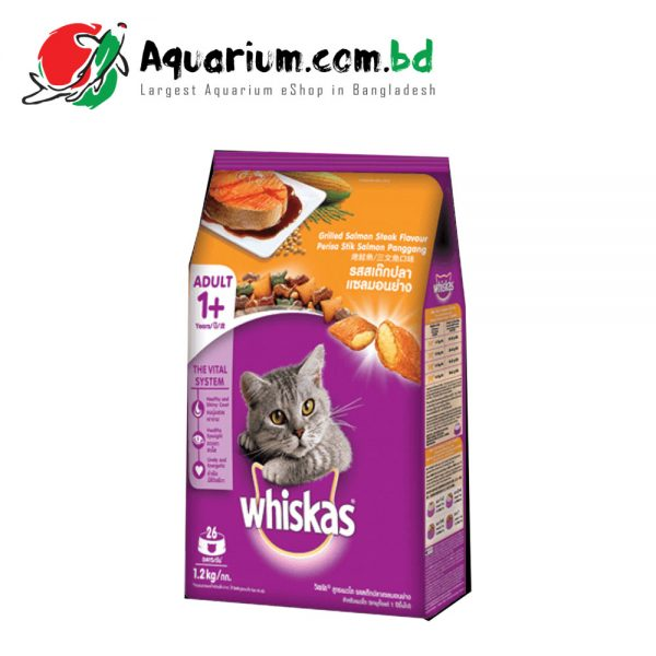 Whiskas Grilled Salmon Steak Flavour for Adult(1.2kg)