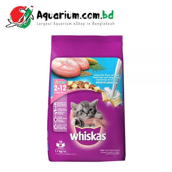 Whiskas Junior Ocean Fish with Milk Flavor(1.1kg)