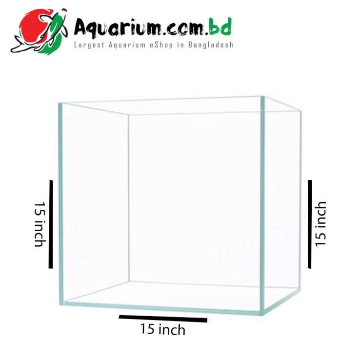 15x15x15 Crystal Glass Aquarium made of Crystal Glass