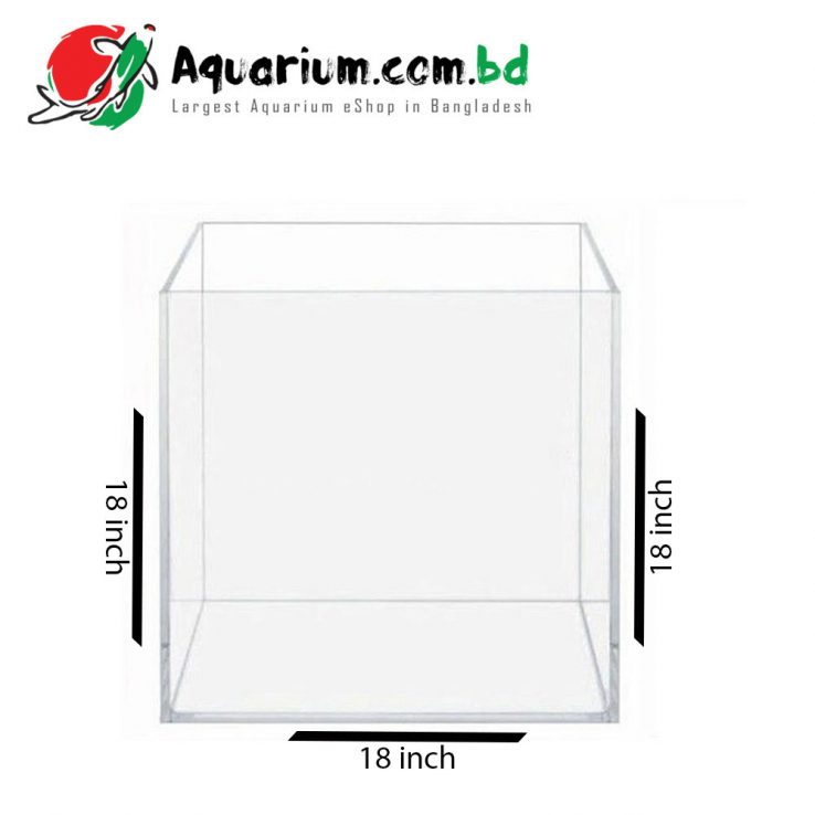 18″x18″x18″ Crystal Glass Aquarium