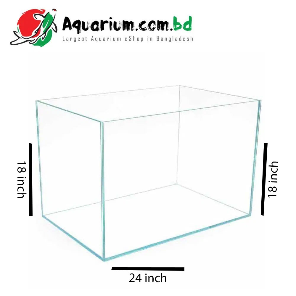 24″x18″x18″ Crystal Glass Aquarium – Glass Thickness 6mm