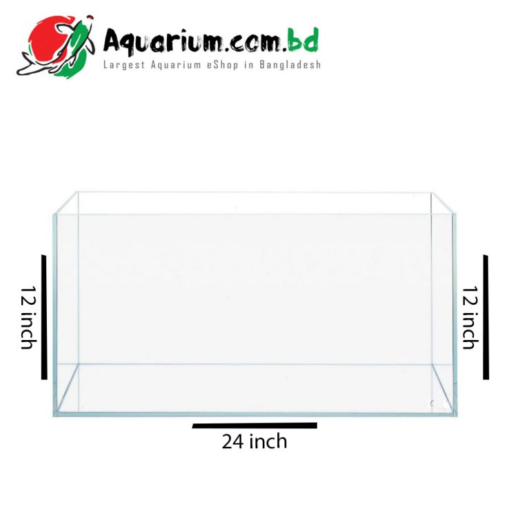 24x12x12 Crystal Glass Aquarium made of Crystal Glass