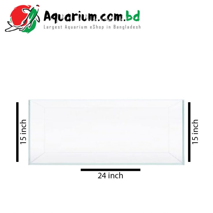 "24""x15""x15"" Crystal Glass Aquarium Tank"