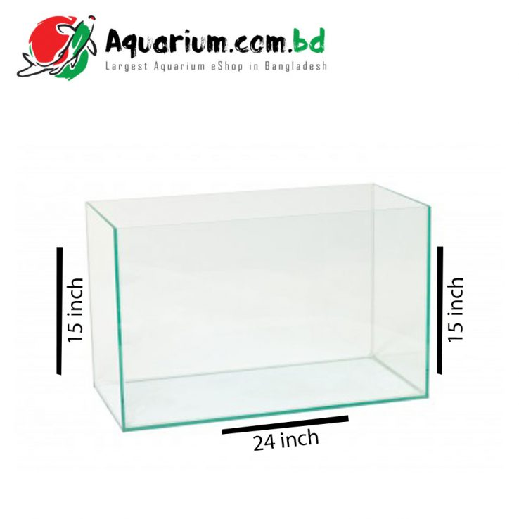 24x15x15 Crystal Glass Aquarium made of Crystal Glass