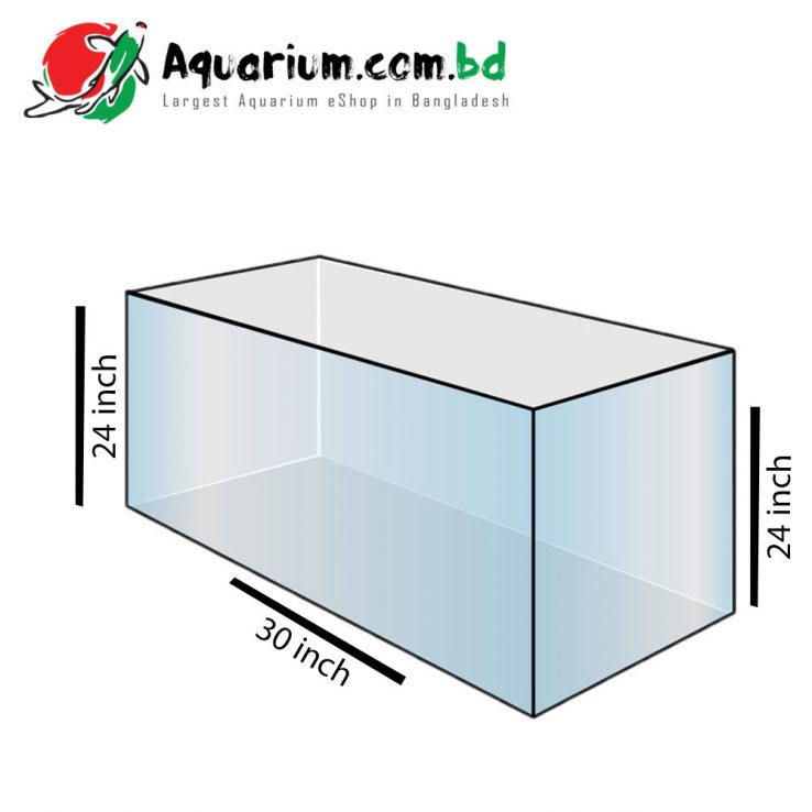 "30""x24""x24"" Crystal Glass Aquarium made of Crystal Glass"
