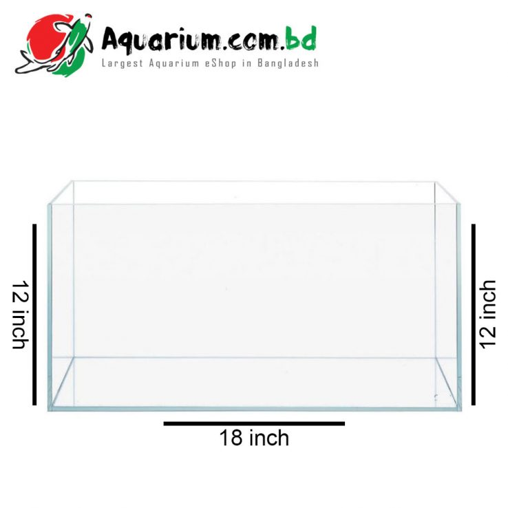 "39 Ltr. 18""x12""x12"" Glass Aquarium Tank"