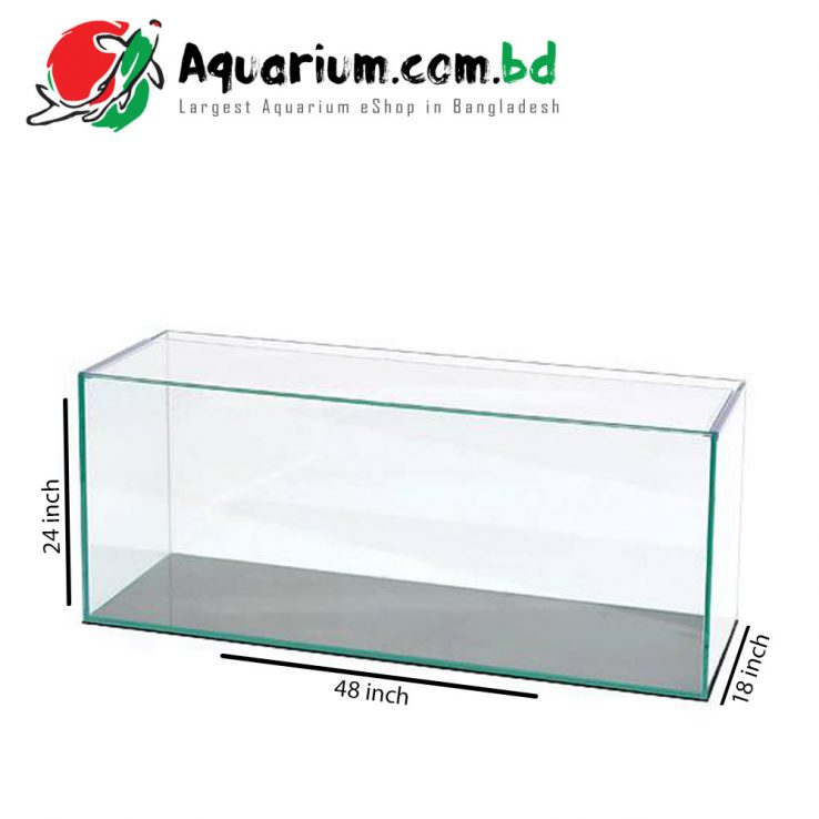 "48""x24""x18"" Regular Glass Aquarium Tank"