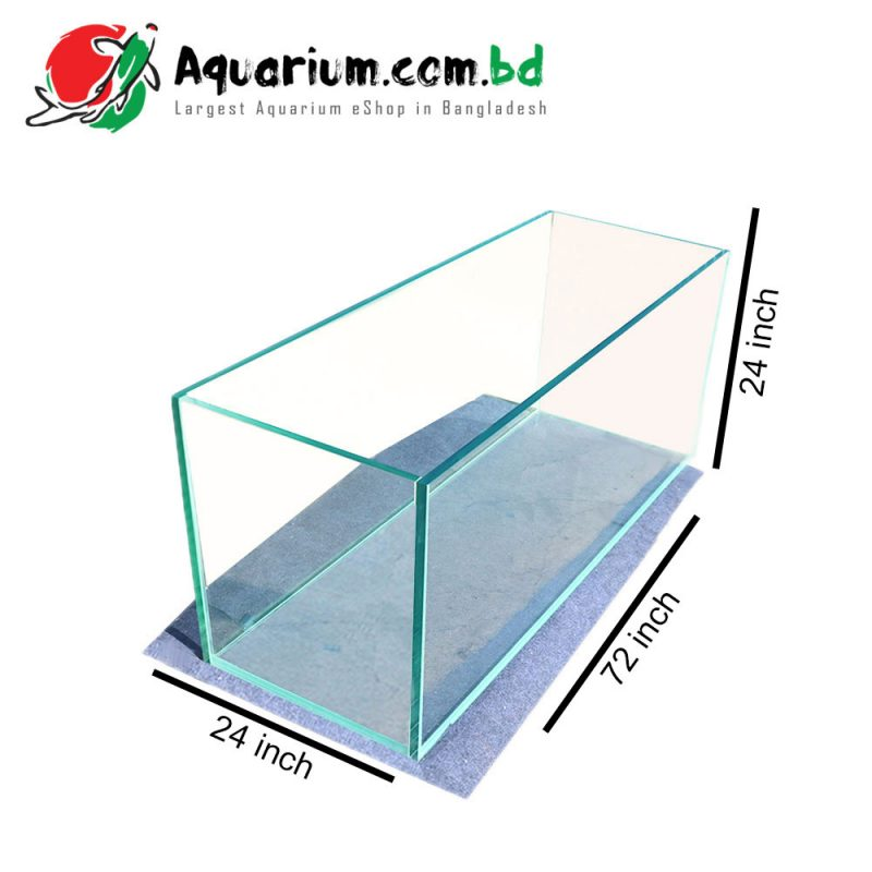 72x24x24 Crystal Glass Aquarium Tank