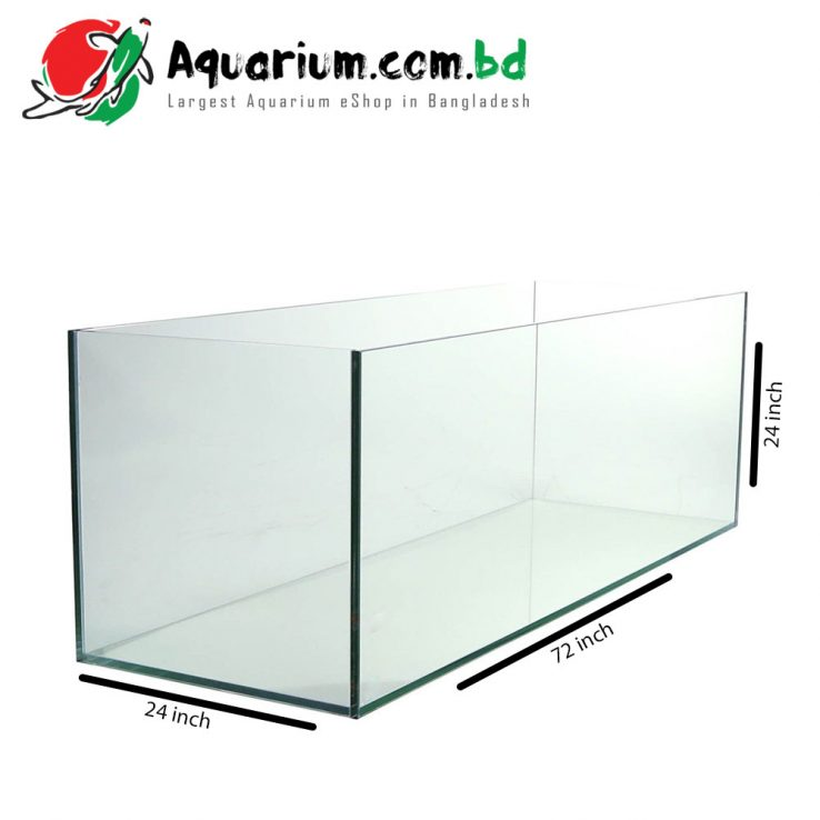 72″x24″x24″ Regular Glass Aquarium Tank