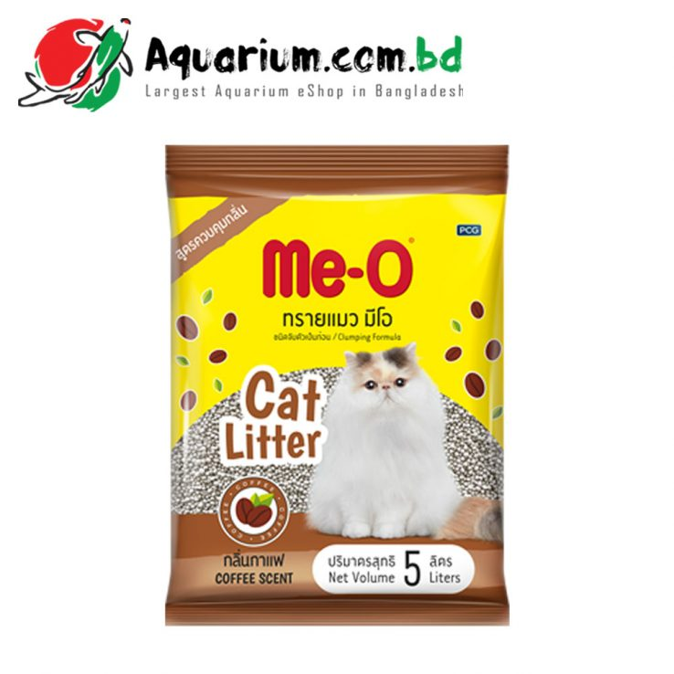 Me-O Clumping Formula Cat Litter(Coffee Scent- 5 Liters)
