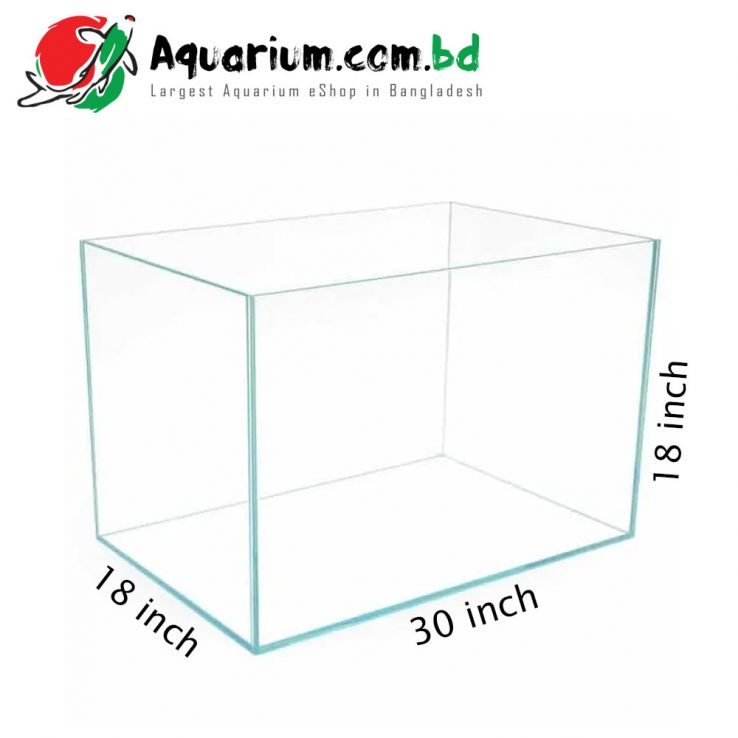 "30""x18""x18"" Crystal Glass Aquarium- Glass Thickness 8mm"