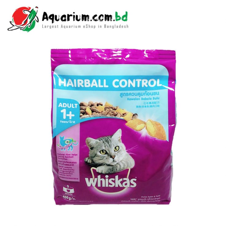 Whiskas Hairball Control for Adult(450g)