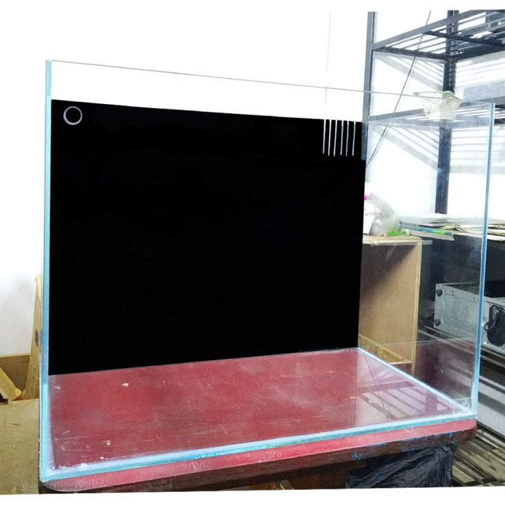 30″x24″x24″ Crystal Glass Aquarium Tank With Backsump