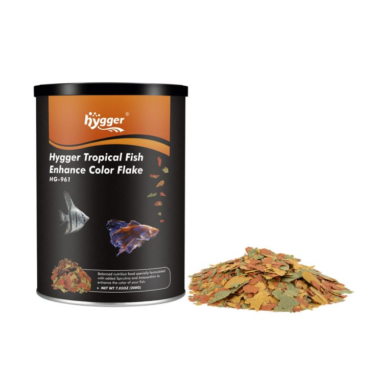 HYGGER Fish Food Nutritionally Balanced Tropical Flakes