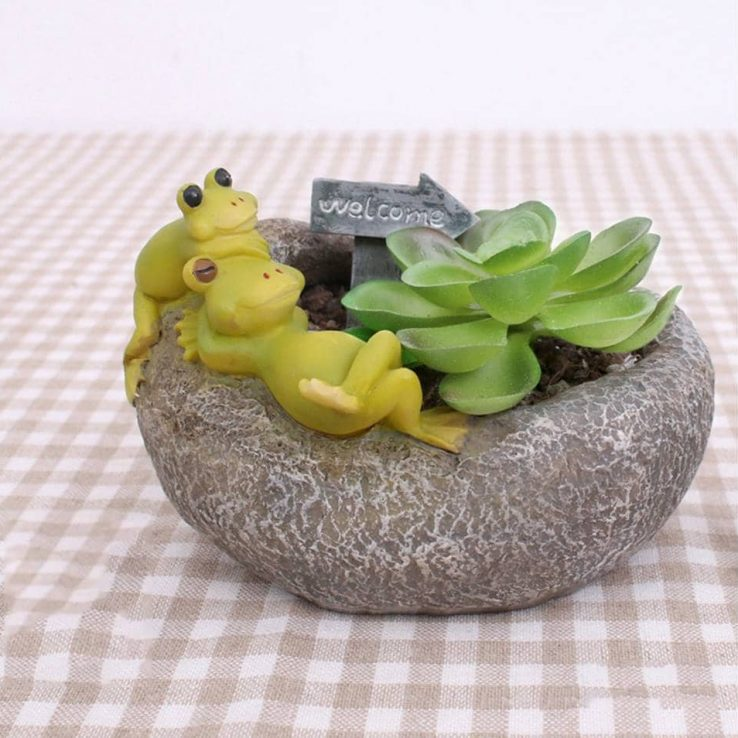 SLEEPING FROG RESIN POT CODE-RESIN-6M1