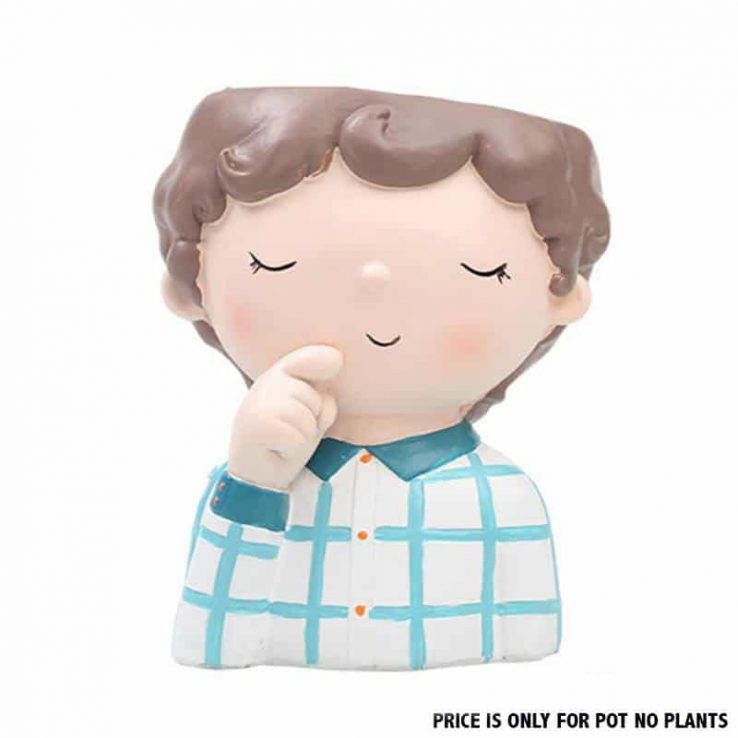 CUTE BOY RESIN POT CODE-RESIN-7W3