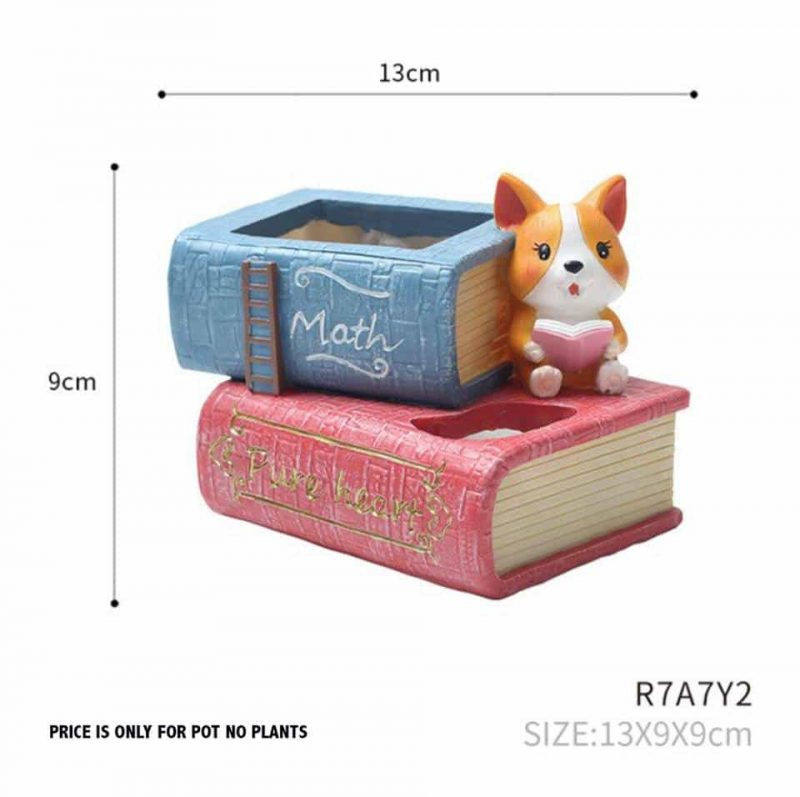 BOOK STYLE POT CODE-RESIN-7Y2