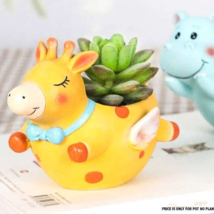 COW RESIN PLANTER CODE-RESIN-8D2