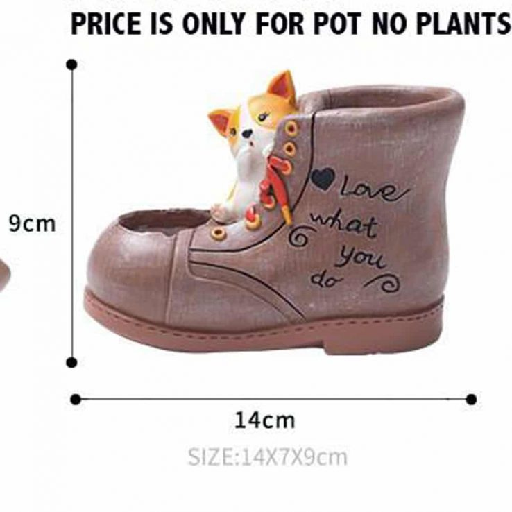 SHOE MINI PLANTER CODE-RESIN-7Y4